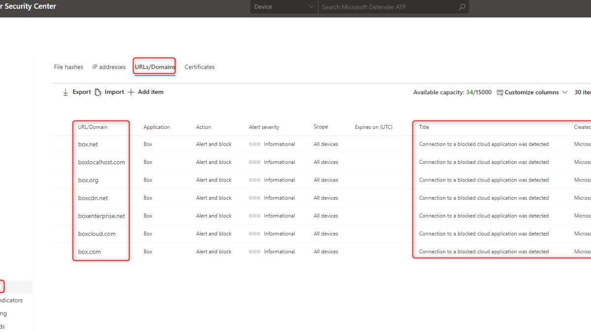Apps vanuit Cloud App Security blokkeren via Microsoft Defender ATP + Microsoft Endpoint Manager