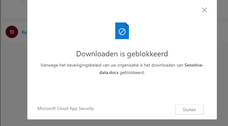 Downloads blokkeren via Conditional Access App Control vanuit Microsoft Endpoint Manager