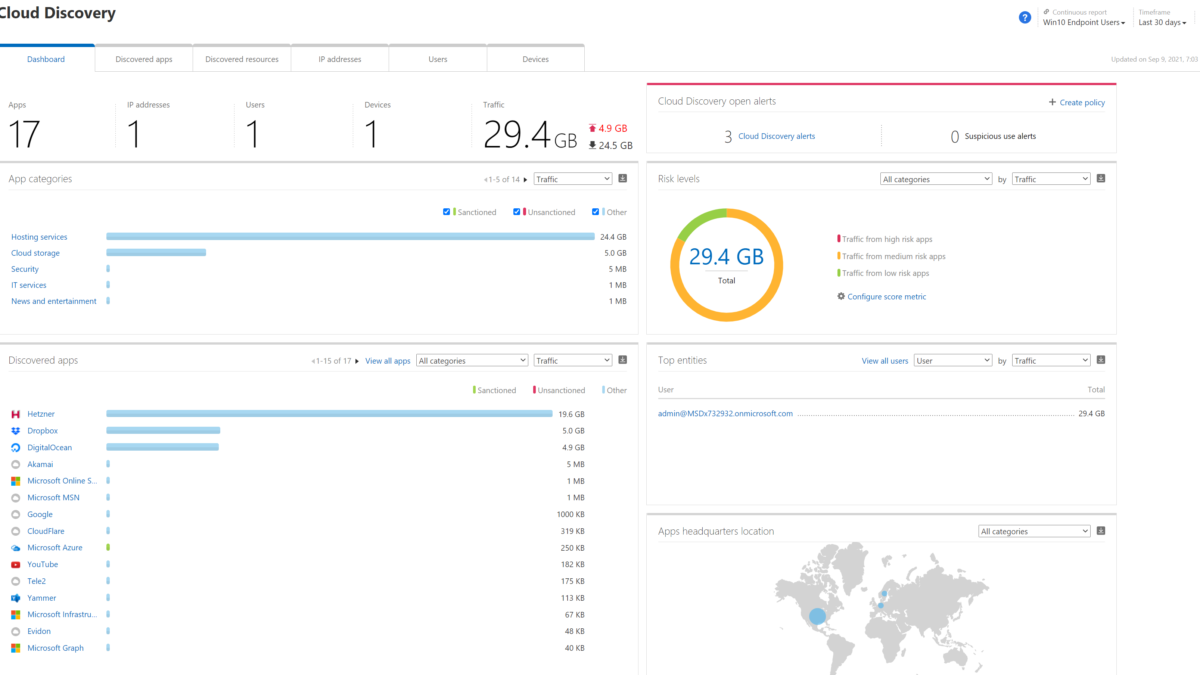 Cloud App Discovery with MCAS & MDE for Shadow IT monitoring and integration with Azure Sentinel